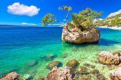 Idyllic Islet On Punta Rata Beach In Brela, Makarska Riviera Of Dalmatia, Croatia poster