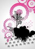 Grungy Tree, Vector