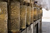 Prayer Wheels In Monastery Tashi Lhunpo