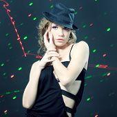 Fashion Portrait Of Beautiful Dancing Girl