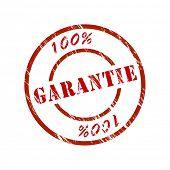 100 % garantiert, garantieren Stempel
