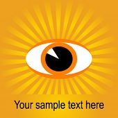 Vector de ojo sunburst