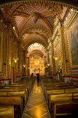 Guadalupita Church Interior, Ornate, Baroque And Beautiful
