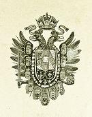 Wappen von East-ungarischen Monarchie. Illustration von Alwin Zschiesche, veröffentlicht am