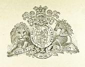 Wappen von Großbritannien und Irland. Illustration von Alwin Zschiesche, veröffentlicht am