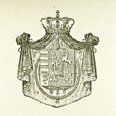 Wappen der Herzöge von Parma. Illustration von Alwin Zschiesche, veröffentlicht am