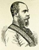 Porträt von Kronprinz Rudolf (Franz Karl Josef). Illustration von Alwin Zschiesche, veröffentlicht am