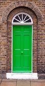 Green front door.
