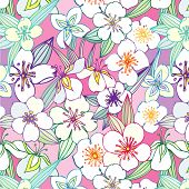 seamless pattern with jasmine
