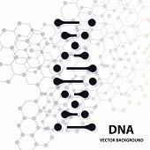 Dna Molecule Structure Background. Dna, Molecule, Abstract, poster