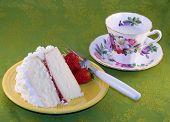 Cake And Strawberries.
