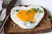 Fried Egg In Heart Shape