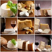 image of brie cheese  - collection of italian cheese and wine - JPG