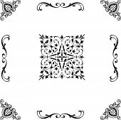Antique Ornament Patterns, Front Ornament Frame Patterns, Photo Carving Patterns Of Ornaments, Photo poster
