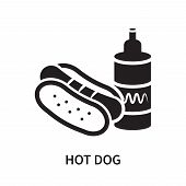 Hot Dog Icon Isolated On White Background. Hot Dog Icon Simple Sign. Hot Dog Icon Trendy And Modern  poster