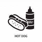 Hot Dog Icon Isolated On White Background. Hot Dog Icon Simple Sign. Hot Dog Icon Trendy And Modern  poster