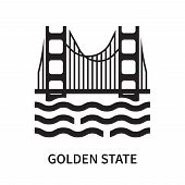 Golden State Icon Isolated On White Background. Golden State Icon Simple Sign. Golden State Icon Tre poster