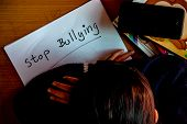 Stop Bullying. Bullying Is Unwanted And Aggressive Behavior. It Considered A Social Problem. poster