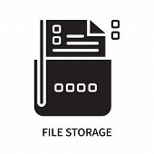 File Storage Icon Isolated On White Background. File Storage Icon Simple Sign. File Storage Icon Tre poster