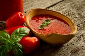 stock photo of household farm  - bowl with tomato sauce - JPG
