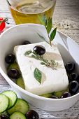feta  traditional greek cheese