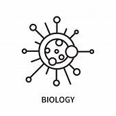 Biology Icon Isolated On White Background. Biology Icon Simple Sign. Biology Icon Trendy And Modern  poster