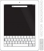VECTOR Tablet Computer or pad in qwerty