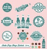 Vector Set: Retro Soda Pop Shop Labels