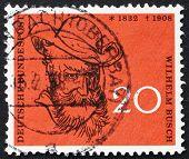Briefmarke Deutschland 1958 Wilhelm Busch, humorist