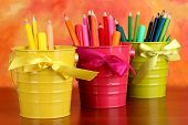picture of non-permanent  - Colorful pencils and felt - JPG