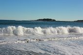 Crescent Beach State Park with Rolling Waves of The Atlantic Ocean