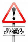 Invasão de privacidade de aviso.