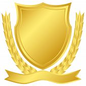Gold Shield And Laurel Wreath