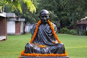 Decorated Statue Of Mahatma Gandhi