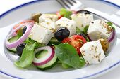 greek salad, greek cuisine