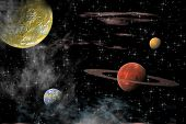 View Of The Universe With Planets