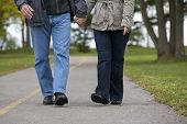 Mature Couple Walking