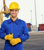 Engineer Holding Plier, Outdoor