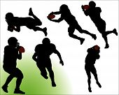 Football Silhouette Vectors