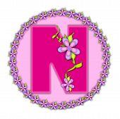 Alphabet Daisy Chain N