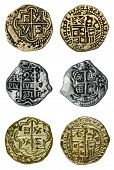 stock photo of spanish money  - Pirate coins  - JPG
