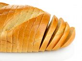 lecker geschnittenem Brot, isolated on white