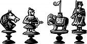 Alte Schachfiguren