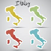 stickers in form of Italy