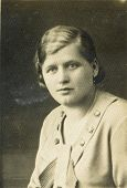 CZESTOCHOWA, POLAND, CIRCA THIRTIES - vintage portrait of unidentified woman, Czestochowa, Poland, c