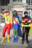 MOSCOW - SEPTEMBER 8: Superheroes at festival Everycon near House of Culture in VVC, on September 8,