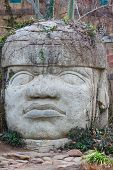 Head carved from stone     Save to a lightbox ?            find similar images    share share ?      Head carved from stone