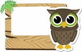 baby owl blank sign board