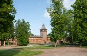 foto of hetman  - the restorated wooden citadel of Baturyn town which is the part of monumental complex Hetmans - JPG