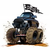 pic of monster-truck  - Vector Cartoon Monster Truck - JPG